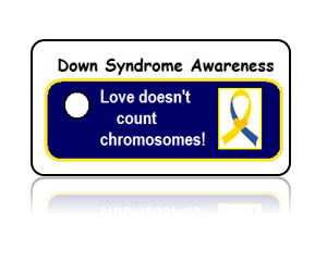 Down Syndrome Awareness Key Tags