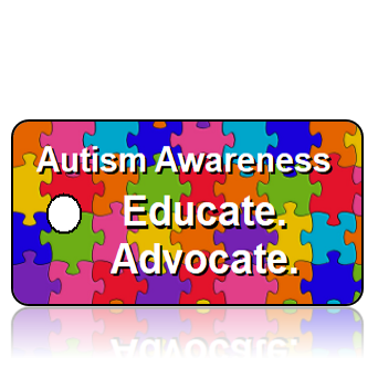 AWARE10 - Autism Awareness - Colorful Puzzle Pieces