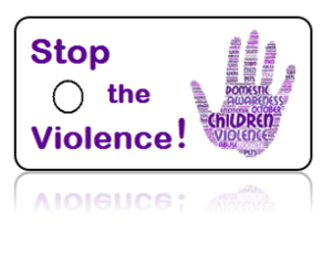 Domestic Violence Awareness Purple Key Tags