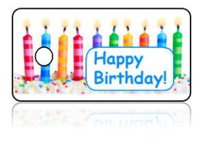 Birthday Announcement Candles Key Tags