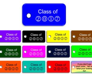 Graduating Class Key Tags