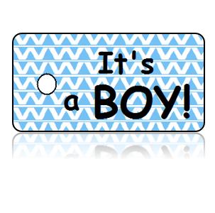 Birth Announcement Baby Boy Key Tags