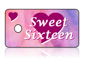 Birthday Announcement Sweet Sixteen Key Tags
