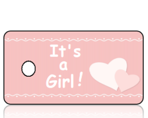 Its a Girl Pink Stripes and Hearts