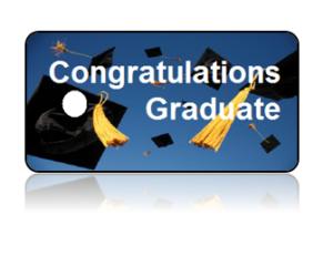 Graduation Announcement Hats Background Key Tags
