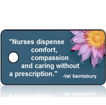 Appreciation04 - Nurse - Purple Daisy with Blue Background