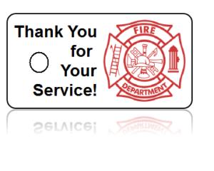 Firefighter Appreciation Key Tags