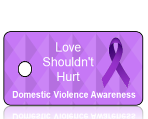 Domestic Violence Awareness- Love Shouldnt Hurt - Purple Diamonds