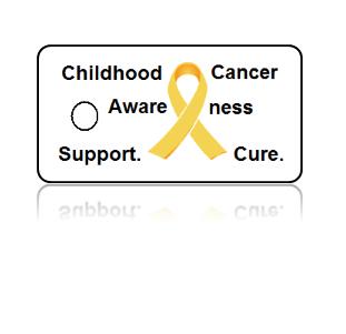Childhood Cancer Awareness Yellow Ribbon Key Tags