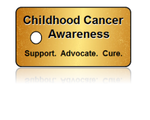 Childhood Cancer Awareness Gold Key Tags