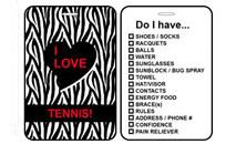 Sports Bag Tags Tennis Zebra Print