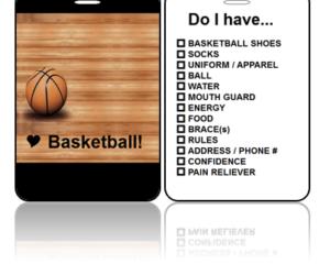 Sports Bag Tags Love Basketball