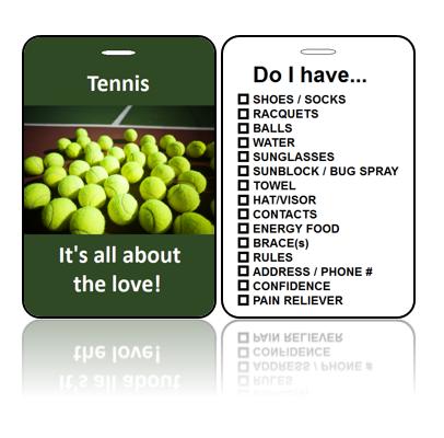 Sports Bag Tags Tennis Love