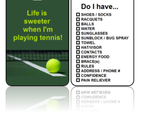 Sports Bag Tags Tennis Sweeter Life