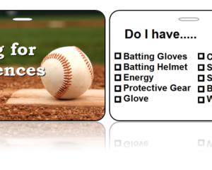 Sports Bag Tags Baseball Swing