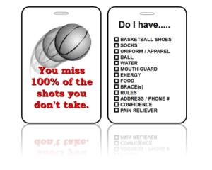 Sports Bag Tags Basketball Shots