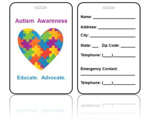 Awareness Bag Tags - Autism Educate Advocate