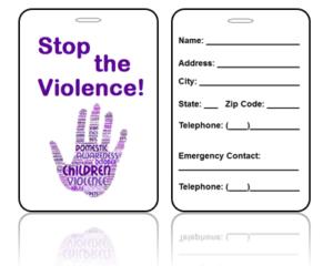 Awareness Bag Tags Domestic Violence