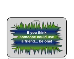 Awareness Bag Tag - Anti-Bullying Friend