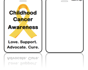 Awareness Bag Tags, Childhood Cancer