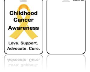 Awareness Bag Tags, Childhood Cancer