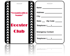 Booster Club Bag Tags