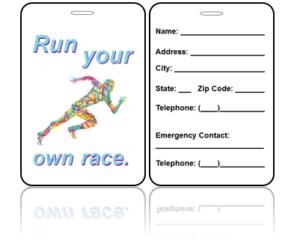 Sports Bag Tags Running