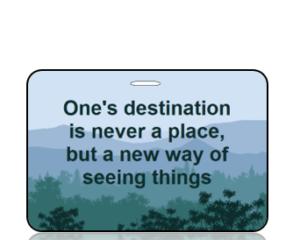 Inspirational Mountain Landscape Bag Tag