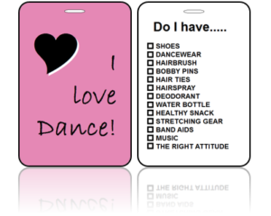 Sports Bag Tags Love Dance