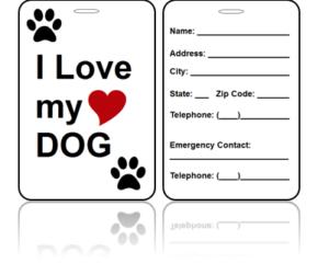 Love Dog Bag Tags