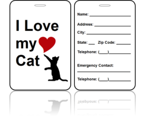 Love Cat Bag Tags