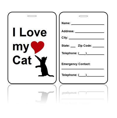 Love Cat Bag Tags