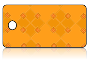 Create Design Key Tags Golden Orange Diamond Pattern