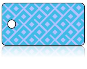 Create Design Key Tags Light Blue Geometric Pattern