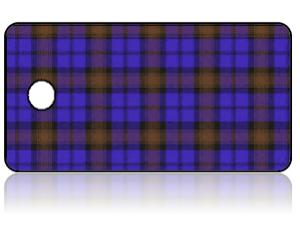 Create Design Key Tags Blue Purple Orange Plaid