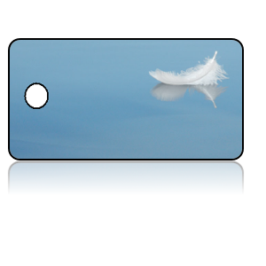 Create Design Key Tags Blue Water White Feather