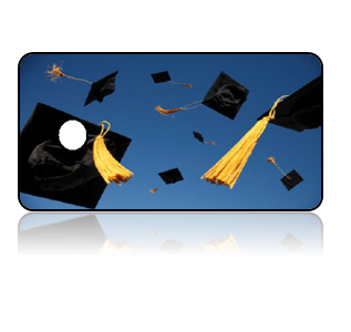 Create Design Key Tags Graduation Hats