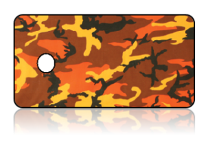 Create Design Key Tags Orange Brown Yellow Camouflage