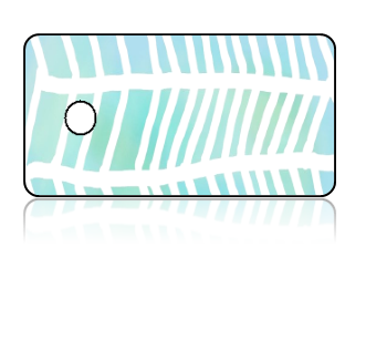 Create Design Key Tags Blue Green Fish Bone Design