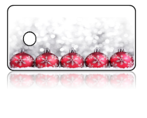 Create Design Key Tags Red Christmas Ornaments Design