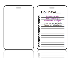 Create Design Bag Tag With Checklist on Back