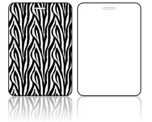 Create Design Bag Tags Zebra Print