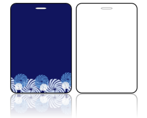Create Design Bag Tags Blue Background