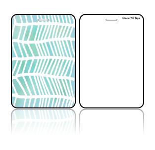 Create Design Bag Tags Blue Green Design