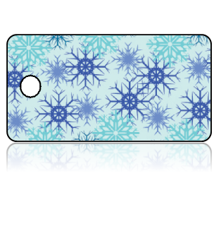 Create Design Key Tags Blue Snowflakes