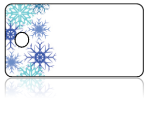 Create Design Key Tags Blue Snowflake Border
