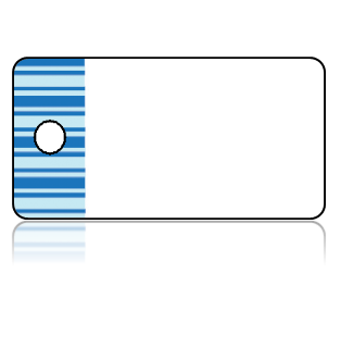 Create Design Key Tags Blues Stripes Horizontal Border