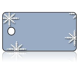 Create Design Key Tags Snowflake Blue Background