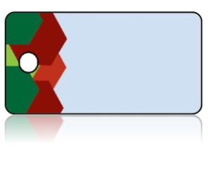 Create Design Key Tags Blue Background Greens Reds Modern Border