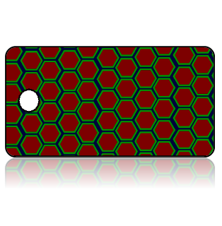 Create Design Key Tags Red Octagons Blue Green Outline